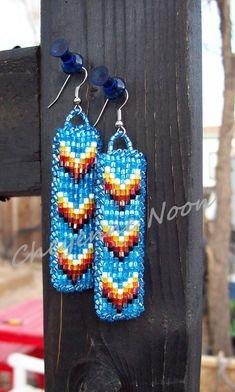 LOVE THIS ONE!!!  Native American Beaded Earrings - CHEVRONS. $25.00, via Etsy.