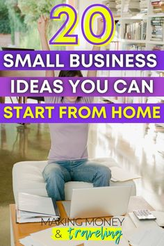 The time has never been better to start your own business! Here are the best small business ideas that you can start from home. Have you been wanting to start your own online business? Check out this list! Whether you're an artist, crafter, freelancer, or whatever else, these are the best DIY small business ideas for women... or anyone! #smallbusiness #entrepreneur #freelancer #maker Online Work From Home, Work From Home Jobs, Make Money From Home, How To Make Money, Best Small Business Ideas, Starting Your Own Business, Earn Money Online, Make Money Blogging, Money Tips