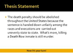 working thesis death penalty