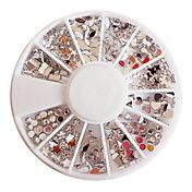 Mixed-mönster Acryl Diamond Wheel Nail Art De... – SEK Kr. 14
