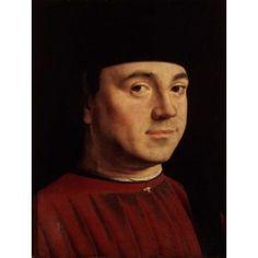 Portrait of a Man Antonello da Messina (ca1430-1479 Italian) Galleria Borghese Rome Canvas Art - Antonello da Messina (24 x 36)