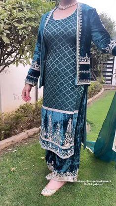 Punjabi Suit Boutique, Boutique Suits, Embroidery Suits Punjabi, Embroidery Suits Design, Punjabi Salwar Suits, Designer Punjabi Suits, Desi Wedding Dresses, Wedding Suits, Womens Dress Suits