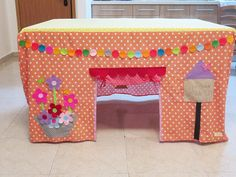 Play tent kids tent table playhouse indoor by SweetnCozy