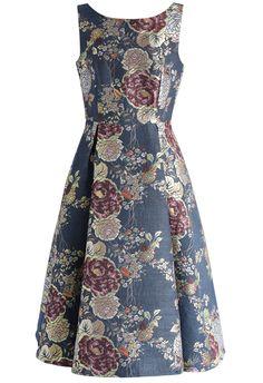 Gorgeous Blossoms Jacquard Prom Dress - New Arrivals - Retro ced57e6ba