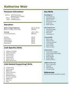 lists of expertises free resume template by hloomcom - Format For Resume For Job