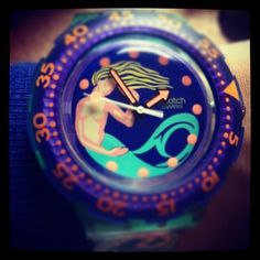 Swatch mermaid. Who remembers these? #watches #retro #style