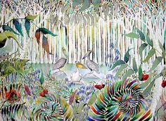 Pelicans in the Park - Kate Morgan - Artist & Illustrator