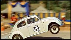 Herbie, the Love Bug, a 1963 VW anthropomorphic vehicle from the 1968 Disney movie.