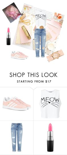 """""""Daily Outfit  #1"""" by queen-suga on Polyvore featuring adidas Originals, Miss Selfridge, MAC Cosmetics and Michele"""