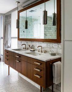 Meuble sous lavabo en bois très luxueux et grandiose