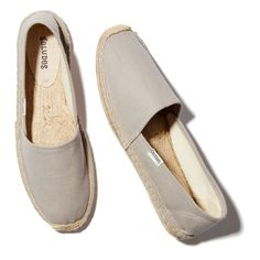 This is Soludos's signature espadrille and it's not hard to see why. Blessedly casual and summery, they beg to be slipped on and walked to the beach.