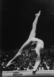 Olga Korbut. She was 17 when she competed in the 1972 Munich Olympics and turned women's gymnastics upside down.
