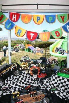 Jake's 4th Monster Truck Birthday   CatchMyParty.com