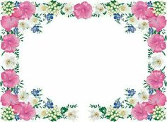 Online Diary, Frame Background, Pink Bouquet, Borders And Frames, Art Clipart, Floral Border, Border Design, I Wallpaper, Page Design