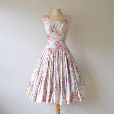1950s dress / vintage dress / 50s floral by RockAndRollVintage, $149.00