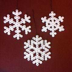 Snowflakes hama perler beads by annapouli_shop