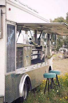 wedding dinner from a vintage food cart <3 {Sitting in a Tree Blog}