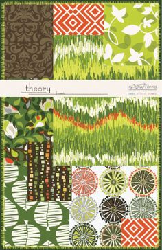 Theory fabric collection for Anthology Fabrics in Forest
