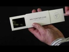 Stunning video brochure produced for Mr Porter by VideoPak. screen with auto-video play technology fused unto an ultra cool slider pack. Press Kit, Mr Porter, Innovation, Cards Against Humanity, Technology, Marketing, A5, Image, Tech