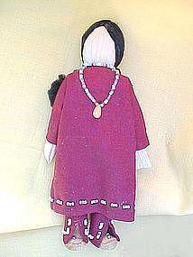 Native American Corn Husk Dolls | Native American-Navajo-CornHusk Doll (item #67958) Native American Dolls, Native American Indians, American Corn, Corn Husk Dolls, Horse And Human, Indian Dolls, Nativity Crafts, Tribal People, Beadwork