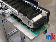 In today's manufacturing environment it is often necessary to positively maintain a product's location and orientation in order properly engage it during the assembly or testing phase. Other times products need to maintain a precise spacing and or be indexed in synch with other equipment. Attachment timing belt conveyors are uniquely designed for these applications. mk North America offers several options for this conveyor type that may work for your particular needs.