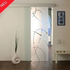 Frosted Glass Design, Frosted Glass Door, Kitchen Sliding Doors, Balcony Railing Design, Sandblasted Glass, Paint Colors For Living Room, Glass Shower, Shower Doors, Interior Design Living Room