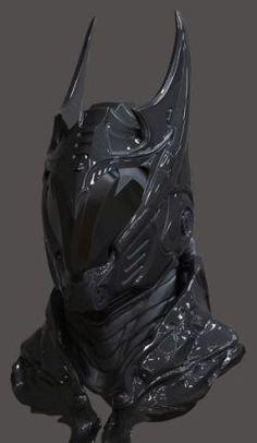 (*zee added- i like the kinda Donnie Darko - Frank look)  future viking helmet concept