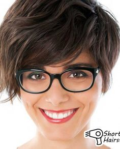 Short Hairstyles With Bangs And Glasses 2014