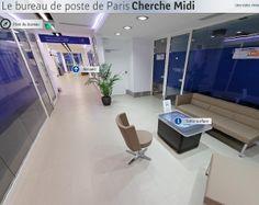 Bureau de Poste de Cherche Midi équipé de plusieurs dispositif interactifs