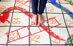Snakes and ladders, board games, party games, giant board, handmade, hand painted, cute diy, do it yourself, crafts, crafts for children, playing games, party ideas, fun ideas, DIY projects, games