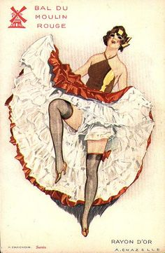 A 1920s can-can dancer from the Moulin Rouge.