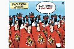 Editorial cartoon for Oct. 25 2013. #cdnpoli #Senate #NHL