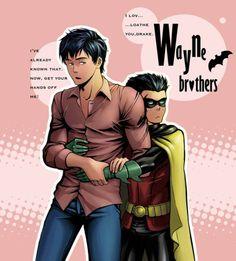 Aw Damian that was almost sweet! Damian Wayne and Tim Drake