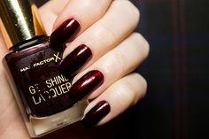Max Factor Gel Shine Lacquer in Sheen Merlot | Beauty Aesthetic: UK/Scottish Makeup & Beauty Blog #review #nails #nailpolish
