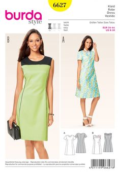 #Simplicity #sewing #pattern 6627 is perfect for every figure type with panel seams and a round neckline.
