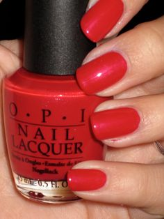 OPI Red for drama