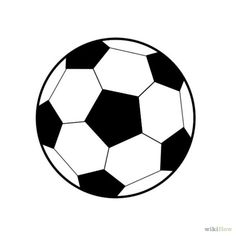 How to Draw a Soccer Ball. Soccer balls are fun to play with but can be unfamiliar to draw. The traditional soccer ball is made from two flat shapes, pentagons and hexagons. A pentagon, of course, is a five-sided polygon, while a hexagon. Soccer Cake, Soccer Theme, Soccer Party, Soccer Treats, Soccer Banner, Sports Drawings, Ball Drawing, Kids Soccer, Arts Ed