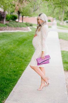 f88b462de4b White Lace Bump White Lace Maternity Dress