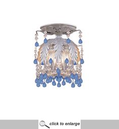 Crystorama Melrose Flush Mount In Silver Leaf Finish [5230-Sl-Blue] only $135.00 - Crystal Ceiling Fixtures