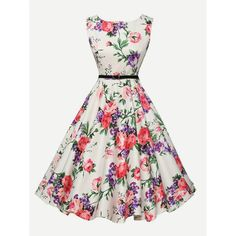 - - Grace Karin Womens Cocktail Dresses Summer style Floral Print Retro Vintage Casual Party Rockabilly Dress Vestidos Femininos Source by Vintage Tea Dress, Vintage Summer Dresses, Casual Party Dresses, Retro Dress, Summer Dresses For Women, Dresses For Teens, Plus Size Dresses, 50s Vintage, Vintage Floral