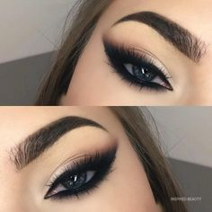 Makeup Eye Looks, Smoky Eye Makeup, Cat Eye Makeup, Blue Eye Makeup, Eye Makeup Tips, Eyebrow Makeup, Makeup Goals, Makeup Inspo, Eyeshadow Makeup