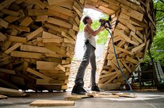 Reading Nest from 10,000 palette boards, Mark Reigelman.