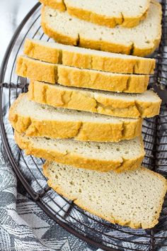 This low carb sandwich bread is so easy to make! It only takes 5 minutes in the blender, then bake. Use it for sandwiches, toast, French toast, & more!
