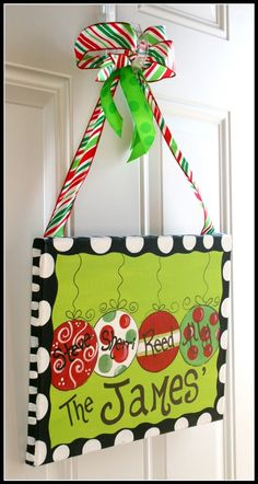 How cute is this! I am going to paint one of these for Christmas! May even be a good gift for friends!