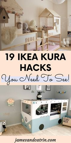 The Kura kids bed is so good for toddlers as it is. You can really transform it into something amazing though with an Ikea Kura hack. #ikeakurahacks #ikeahack #kurahack Kura Bed Hack, Ikea Kura Hack, Ikea Kura Bed, Ikea Hacks, Ikea Furniture Hacks, Cheap Furniture, Home Decor Styles, Diy Home Decor, Cool Kids Bedrooms