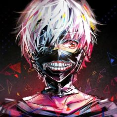 Halloween Anime Dress Cosplay Tokyo Ghoul Kaneki Ken Mask Zipper Hollow Realistic Scary Latex Full Face Mask