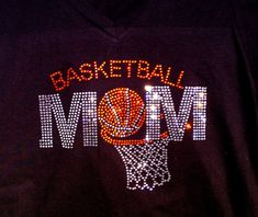Hey, I found this really awesome Etsy listing at https://www.etsy.com/listing/157625362/rhinestone-bling-basketball-mom-shirt