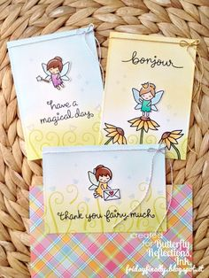 """A """"Fairy Friend"""" set of cards feat. Lawn Fawn!"""