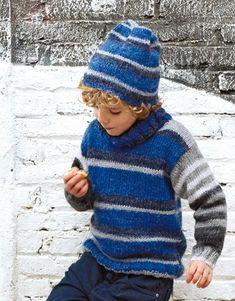 Garçons espagnol en mailles Baby Pom Pom Chunky Cardigan//Veste//manteau avec chapeau