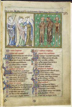De Lisle Psalter, England (East Anglia), c. 1308 – c. 1340  The three living and the three dead